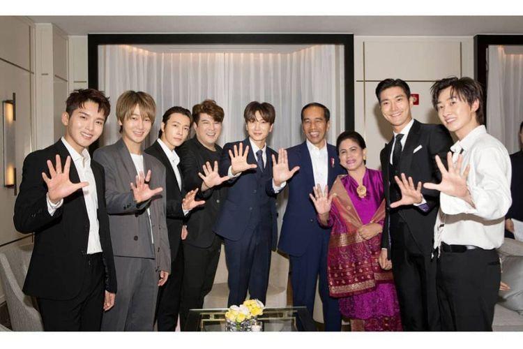 Kunjungi Korea Selatan, Jokowi Ditemui Super Junior